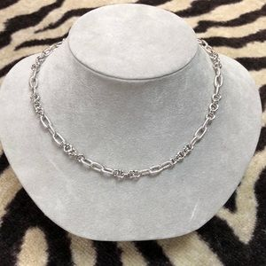 "John Medeiros silver 19"" necklace . Rope designs"
